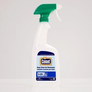 Comet Deep Clean Restroom Cleaner Bottle, 32oz, with green foamer, Case of 6