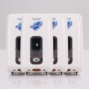 Safeguard® Automatic Touchless Foaming Hand Soap Dispenser, Pack of 4 w/batteries