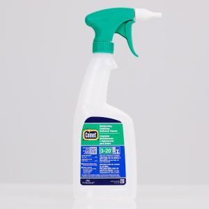 Comet Disinfecting Sanitizing Bathroom Cleaner Bottles, 32oz, with Green and White Heavy Duty Foamer, Case of 6